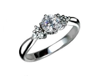 Pt900 ダイヤモンド婚約指輪 デザインNo.B0491、画像1