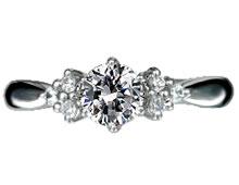 Pt900 ダイヤモンド婚約指輪 デザインNo.B0491、画像3