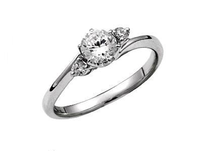 Pt900 ダイヤモンド婚約指輪 デザインNo.B0496、画像1