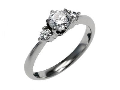 Pt900 ダイヤモンド婚約指輪 デザインNo.B0520、画像1