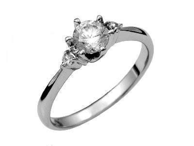 Pt900 ダイヤモンド婚約指輪 デザインNo.B0556、画像1