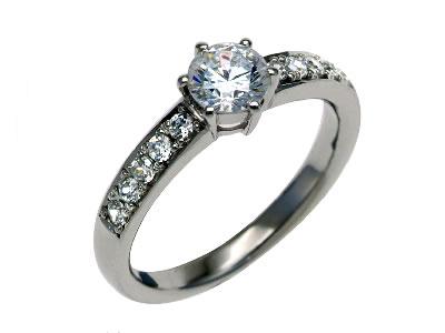 Pt900 ダイヤモンド婚約指輪 デザインNo.B0639、画像1