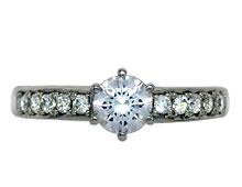 Pt900 ダイヤモンド婚約指輪 デザインNo.B0639、画像3