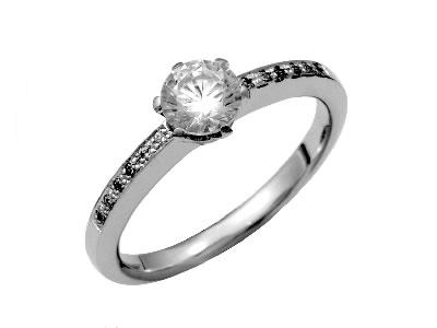 Pt900 ダイヤモンド婚約指輪 デザインNo.B0778、画像1
