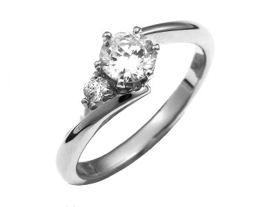 Pt900 ダイヤモンド婚約指輪 デザインNo.B0784、画像1