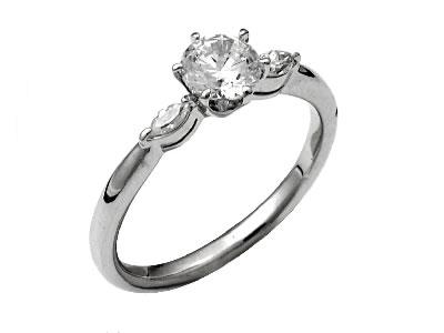Pt900 ダイヤモンド婚約指輪 デザインNo.B0871、画像1