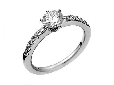 Pt900 ダイヤモンド婚約指輪 デザインNo.B0889、画像1