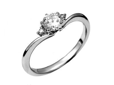 Pt900 ダイヤモンド婚約指輪 デザインNo.B0896、画像1