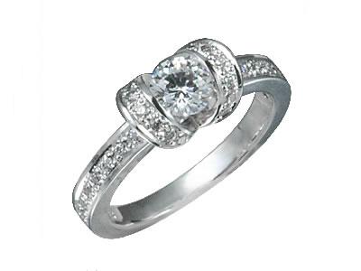 Pt900 ダイヤモンド婚約指輪 デザインNo.C1829、画像1