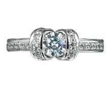 Pt900 ダイヤモンド婚約指輪 デザインNo.C1829、画像3