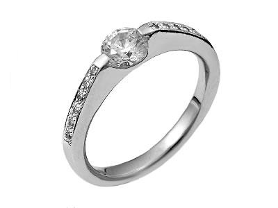 Pt900 ダイヤモンド婚約指輪 デザインNo.C2097、画像1