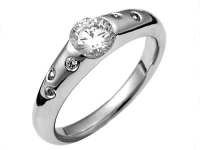 Pt900 ダイヤモンド婚約指輪 デザインNo.C2164、画像1