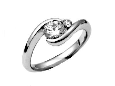 Pt900 ダイヤモンド婚約指輪 デザインNo.C2305、画像1