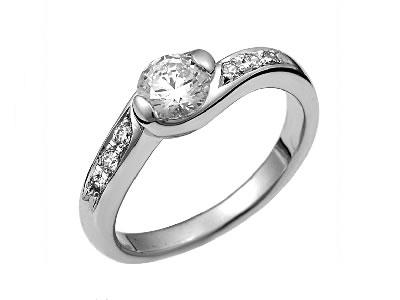 Pt900 ダイヤモンド婚約指輪 デザインNo.C2332、画像1