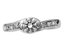 Pt900 ダイヤモンド婚約指輪 デザインNo.C2332、画像3