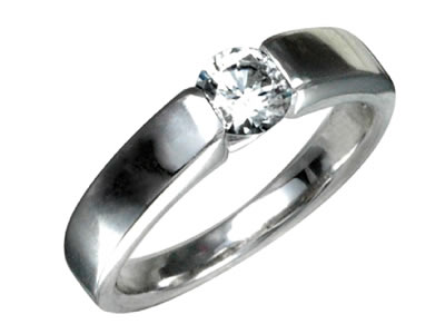 Pt900 ダイヤモンド婚約指輪 デザインNo.C2361、画像1