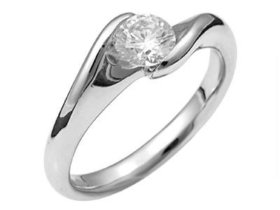 Pt900 ダイヤモンド婚約指輪 デザインNo.C2399、画像1