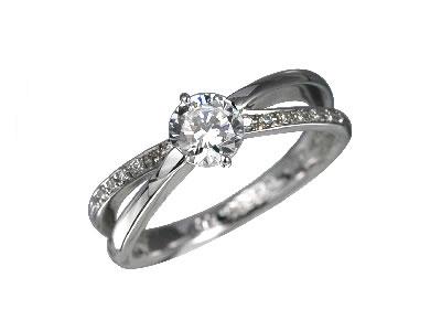 Pt900 ダイヤモンド婚約指輪 デザインNo.C2689、画像1