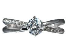 Pt900 ダイヤモンド婚約指輪 デザインNo.C2689、画像3