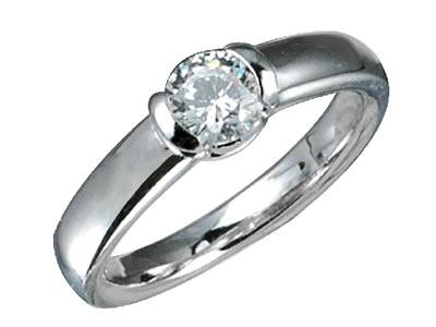 Pt900 ダイヤモンド婚約指輪 デザインNo.C2696、画像1