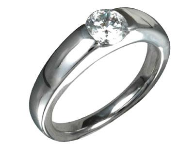 Pt900 ダイヤモンド婚約指輪 デザインNo.C2753、画像1