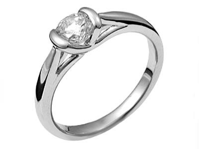 Pt900 ダイヤモンド婚約指輪 デザインNo.C2764、画像1