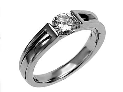 Pt900 ダイヤモンド婚約指輪 デザインNo.C2841、画像1