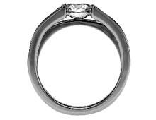 Pt900 ダイヤモンド婚約指輪 デザインNo.C2841、画像2