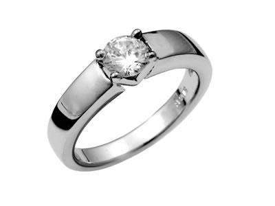 Pt900 ダイヤモンド婚約指輪 デザインNo.C2878、画像1