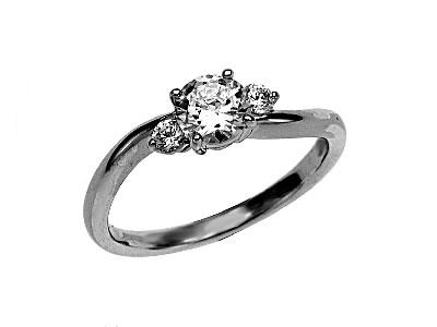 Pt900 ダイヤモンド婚約指輪 デザインNo.C3350、画像1
