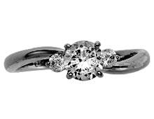 Pt900 ダイヤモンド婚約指輪 デザインNo.C3350、画像3