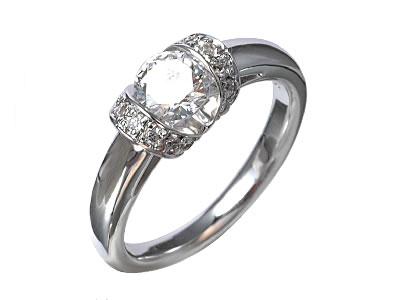 Pt900 ダイヤモンド婚約指輪 デザインNo.C3480、画像1