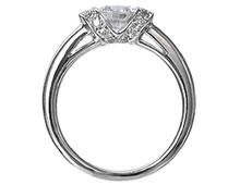 Pt900 ダイヤモンド婚約指輪 デザインNo.C3480、画像2