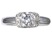 Pt900 ダイヤモンド婚約指輪 デザインNo.C3480、画像3