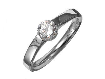 Pt900 ダイヤモンド婚約指輪 デザインNo.C3502、画像1