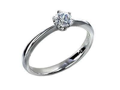 Pt900 ダイヤモンド婚約指輪 デザインNo.T0526、画像1