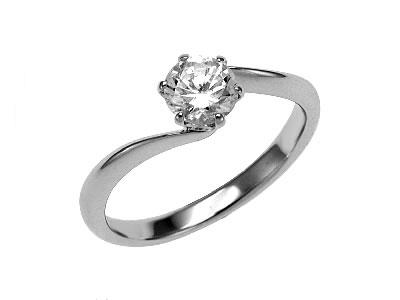 Pt900 ダイヤモンド婚約指輪 デザインNo.T0528、画像1