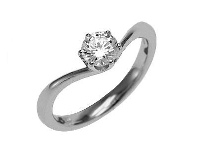 Pt900 ダイヤモンド婚約指輪 デザインNo.T0554、画像1