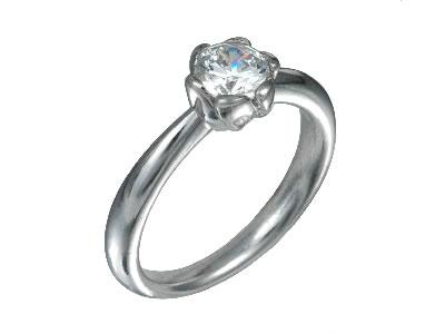 Pt900 ダイヤモンド婚約指輪 デザインNo.T0579、画像1
