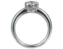 Pt900 ダイヤモンド婚約指輪 デザインNo.T0579、画像2