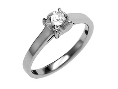 Pt900 ダイヤモンド婚約指輪 デザインNo.T0632、画像1