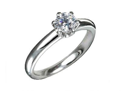 Pt900 ダイヤモンド婚約指輪 デザインNo.T0639、画像1