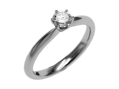 Pt900 ダイヤモンド婚約指輪 デザインNo.T0657、画像1