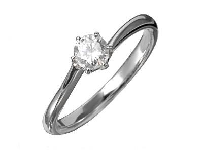 Pt900 ダイヤモンド婚約指輪 デザインNo.T0676、画像1