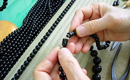 ネックレスの製作工程 - 組み上り