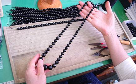ネックレスの製作工程 - 仕上り確認
