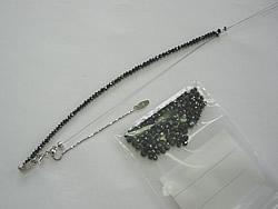 修理例:ブラックダイヤ20ctネックレスのワイヤー切れ