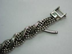 修理例:K18 ブレスレット 留め金具の取替え、仕上げ無しで。修理前