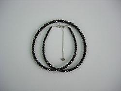 修理例:ブラックダイヤ30ctネックレスのワイヤー切れ