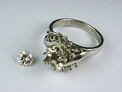 pt900ダイヤモンド0.318ctをリフォーム希望